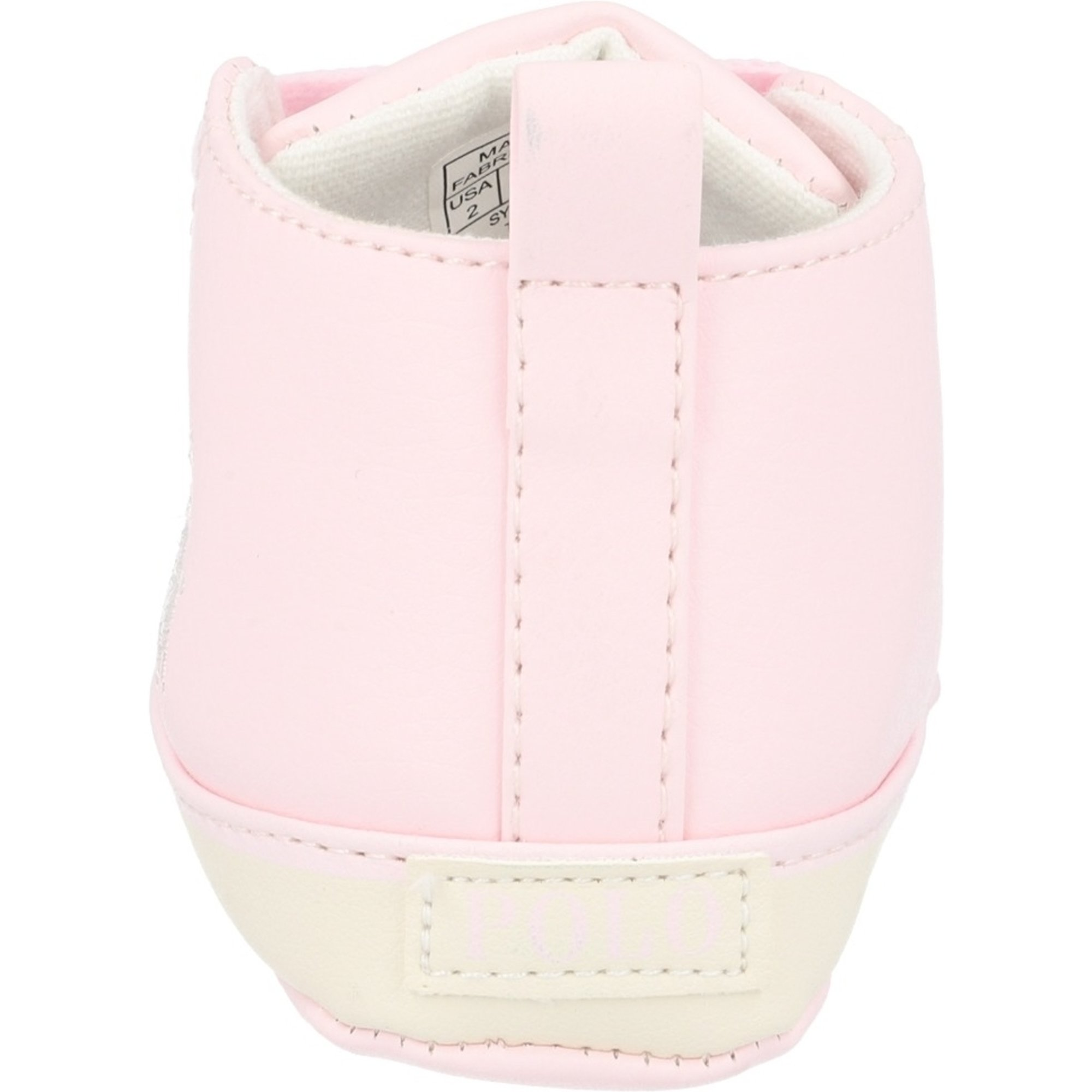 Polo Ralph Lauren Hamptyn Hi Layette Light Pink/Off White Tumbled