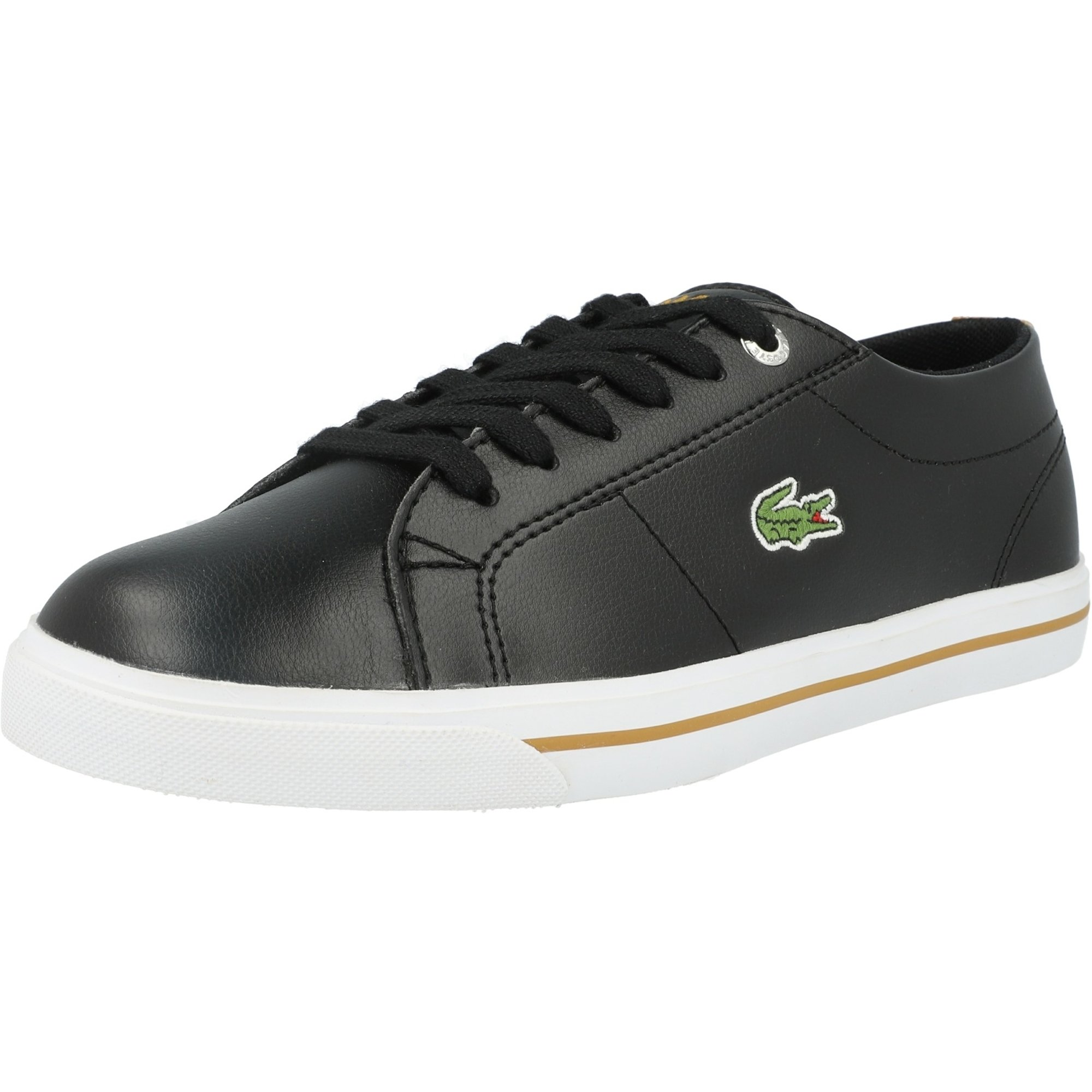 Lacoste Riberac 418 1 Black/Dark Tan Synthetic