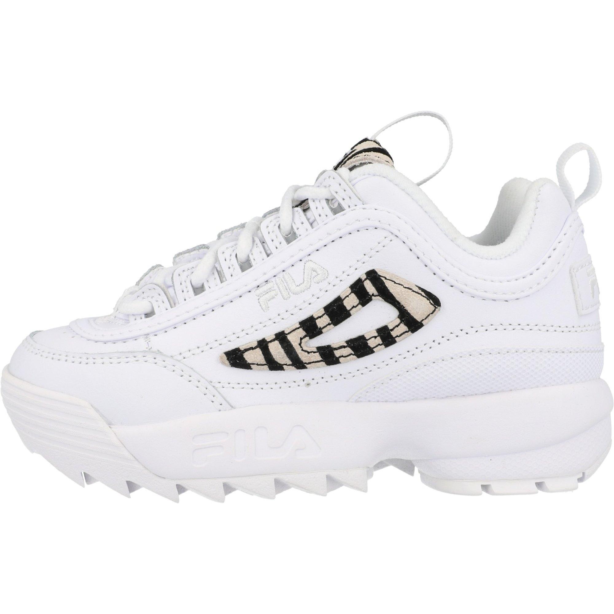 FILA Disruptor II Zebra White Leather