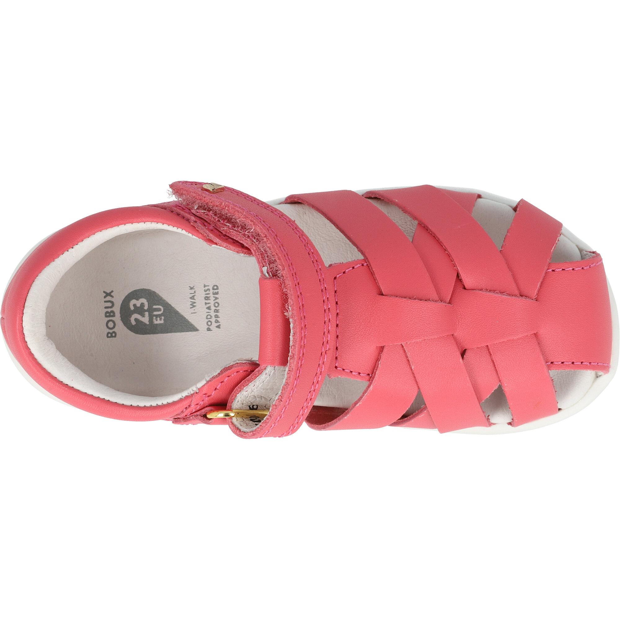 Bobux i-Walk Tropicana II Guava Quickdry Full Grain Leather