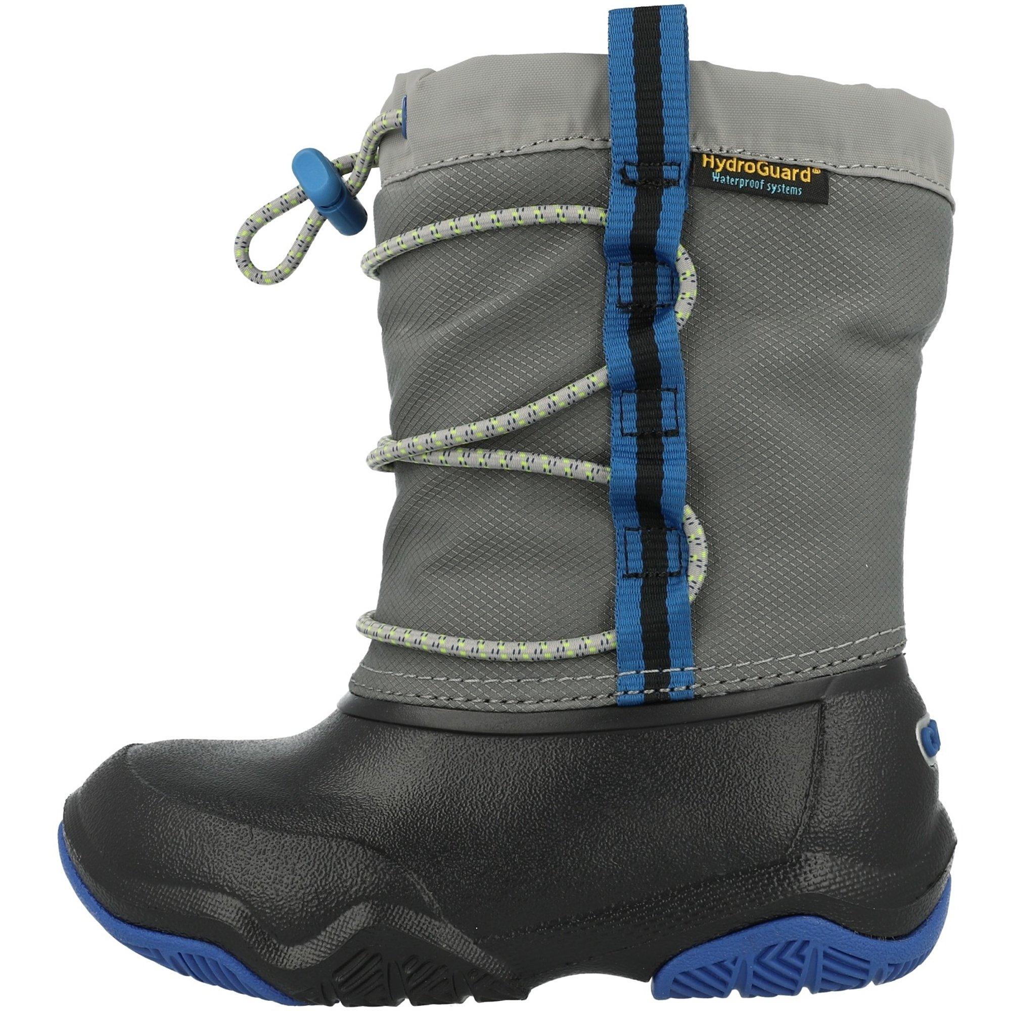 Crocs Kids Swiftwater Waterproof Boot Black/Blue Jean Nylon