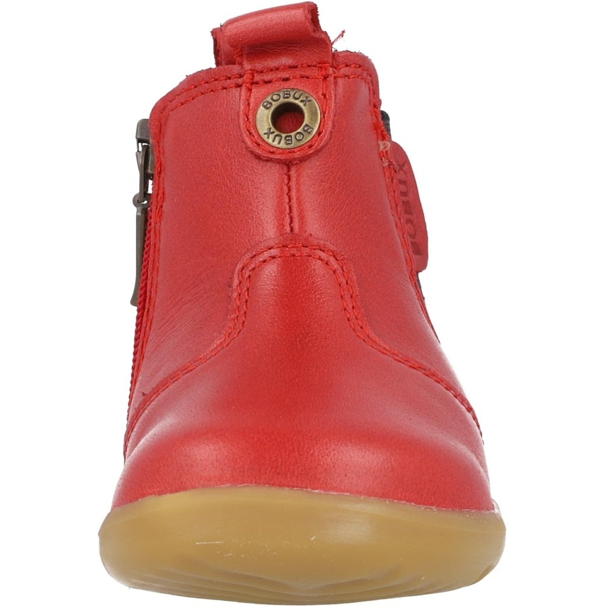 Bobux Step Up Jodhpur Red Vintage-Look Leather