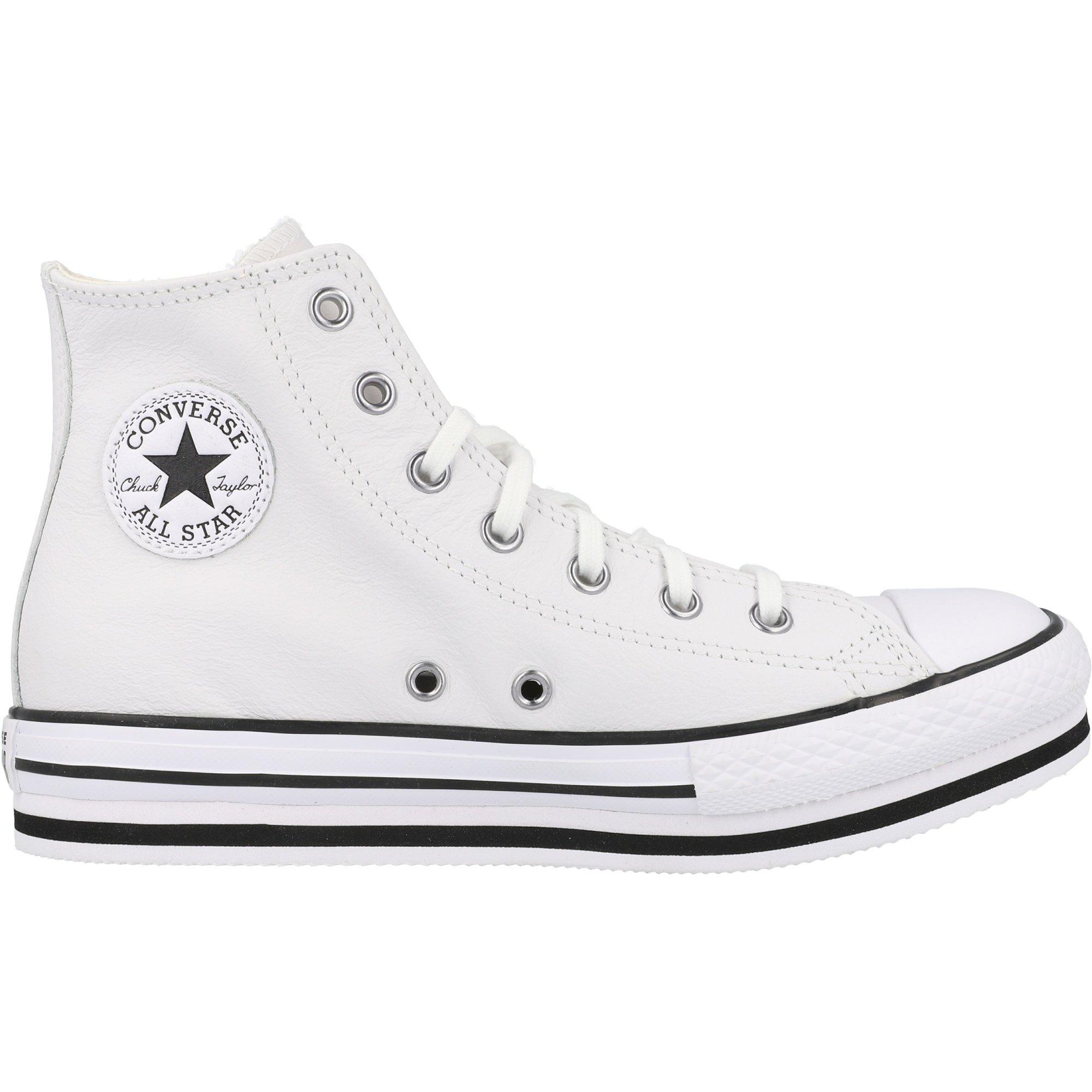 Converse Chuck Taylor All Star Platform EVA Hi White/Black Leather