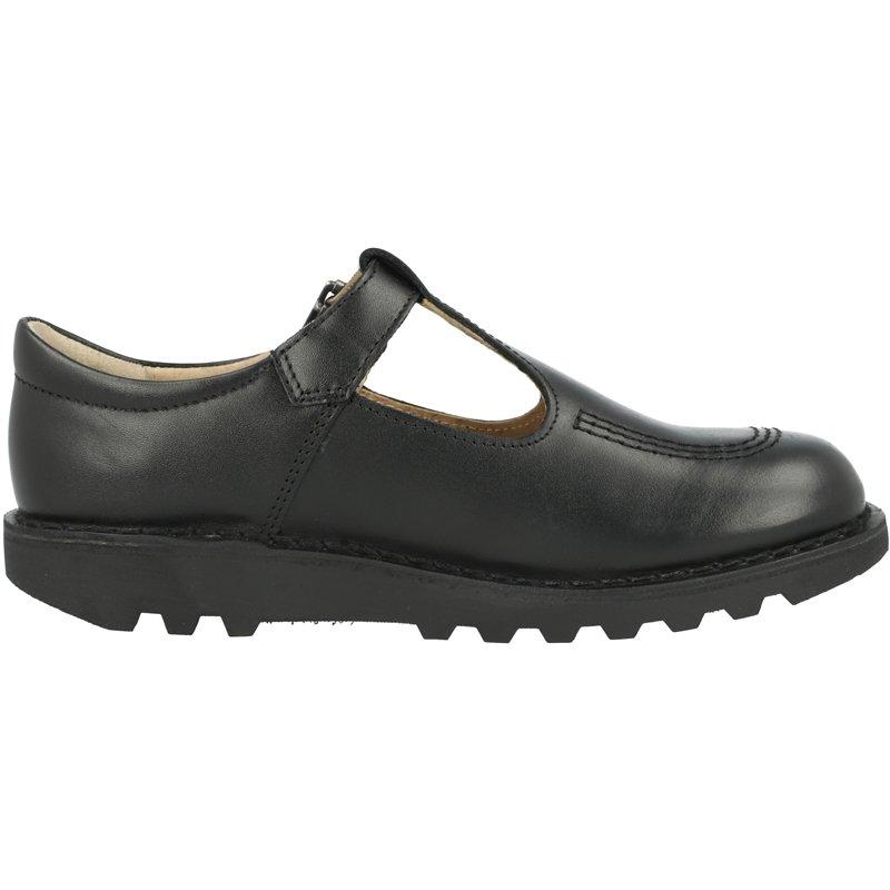 Kickers Kick T Y Black Leather