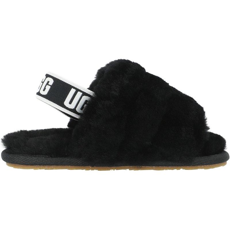 UGG Fluff Yeah Slide T Black Sheepskin