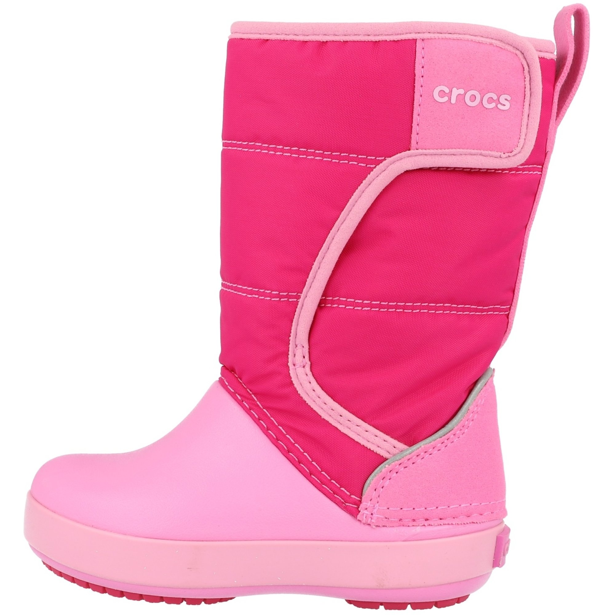 Crocs Kids LodgePoint Snow Boot Candy Pink/Party Pink Croslite