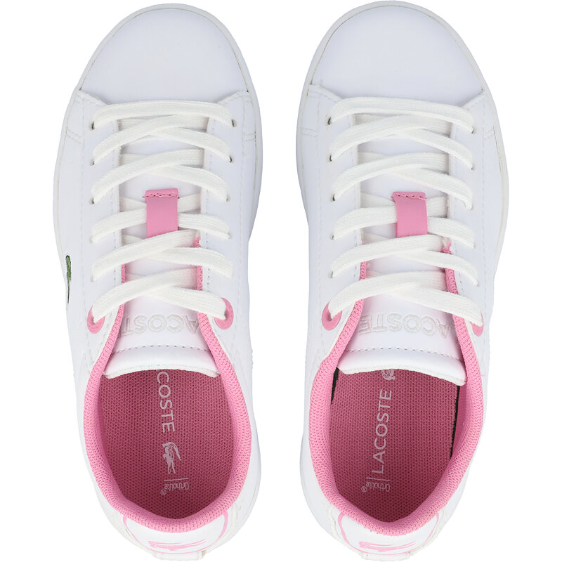 Lacoste Carnaby Evo 0120 2 C White/Light Pink Synthetic