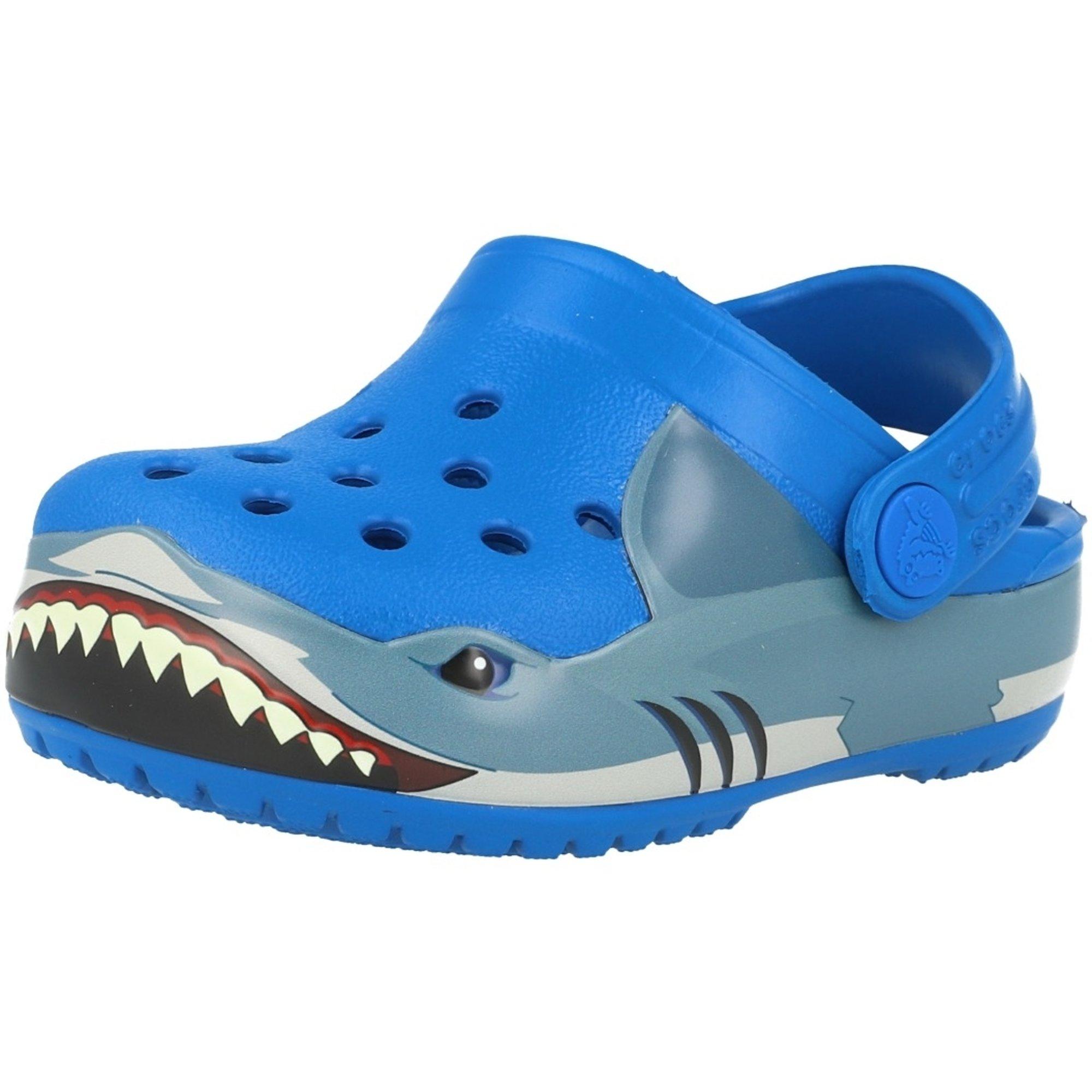 Crocs Kids Fun Lab Shark Band Clogs