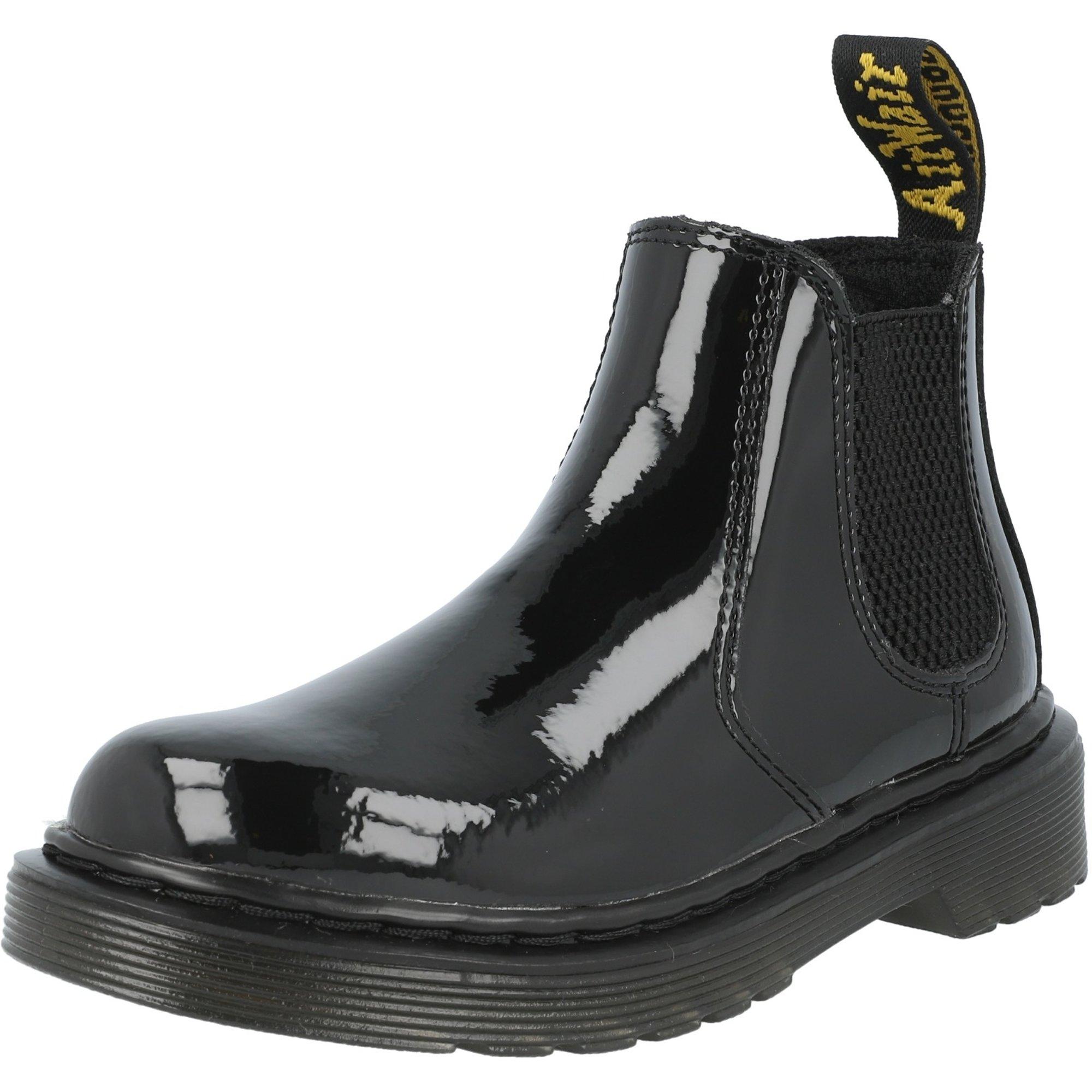 trigo sin En el nombre  Dr Martens 2976 J Negro Charol Lamper - Chelsea Botas - Awesome Shoes