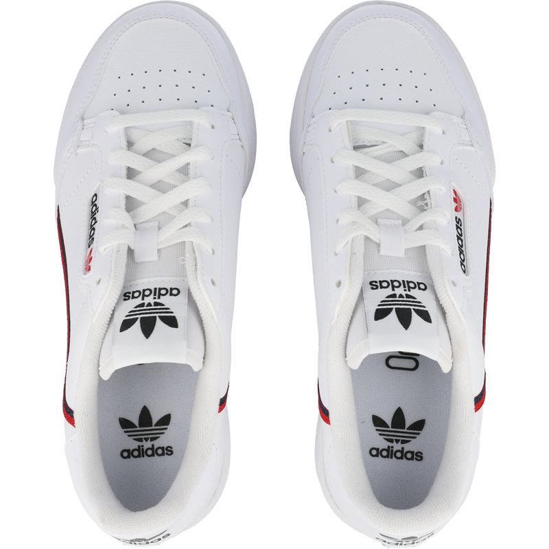 adidas Originals Continental 80 J White Leather