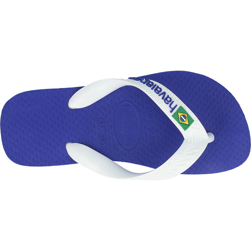 Havaianas Kids Brasil Logo Marine Blue Rubber