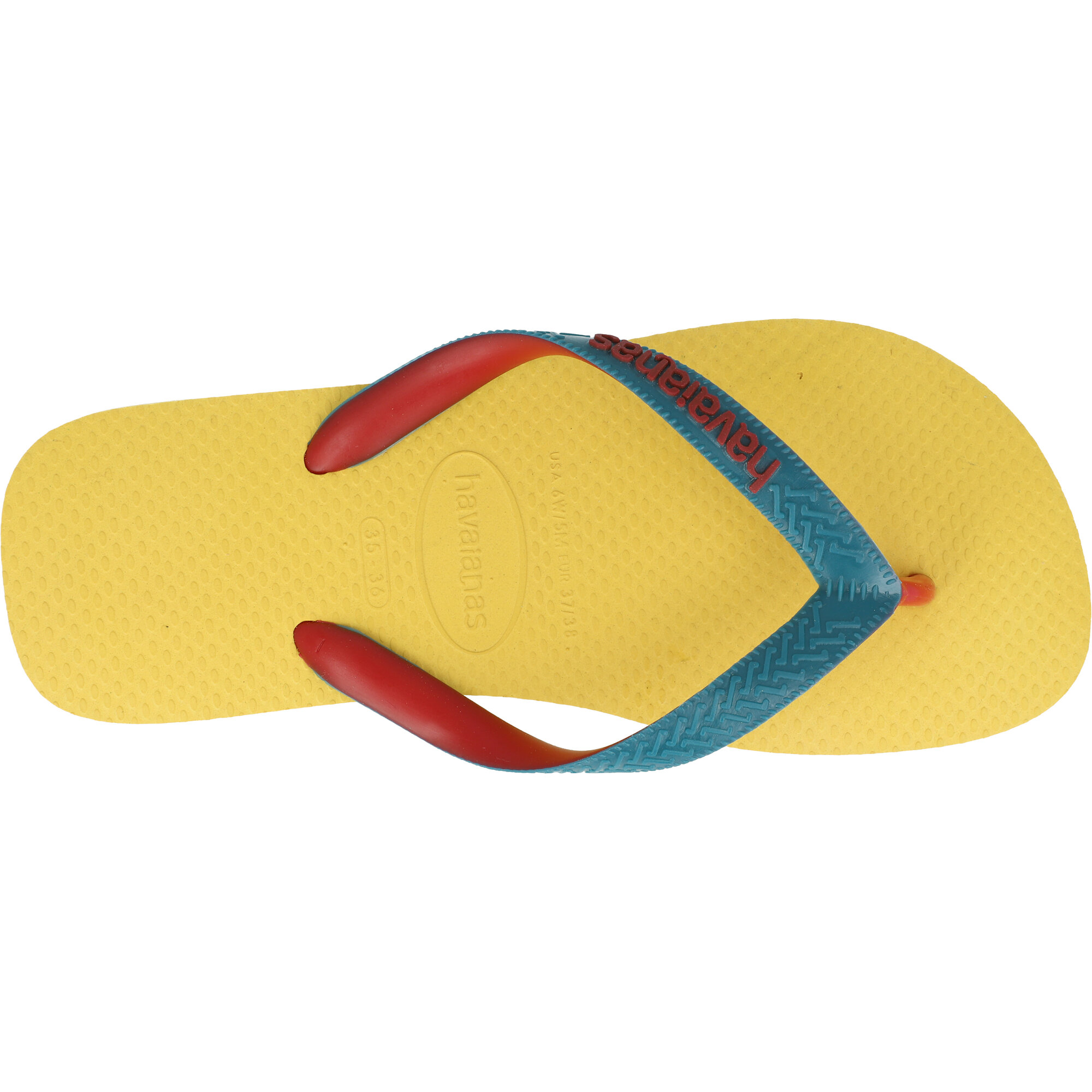 Havaianas Top Mix Gold Yellow Rubber