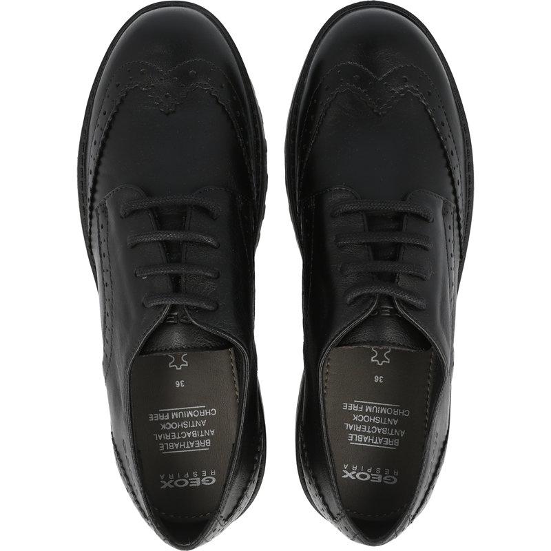 Geox J Casey N Black Leather