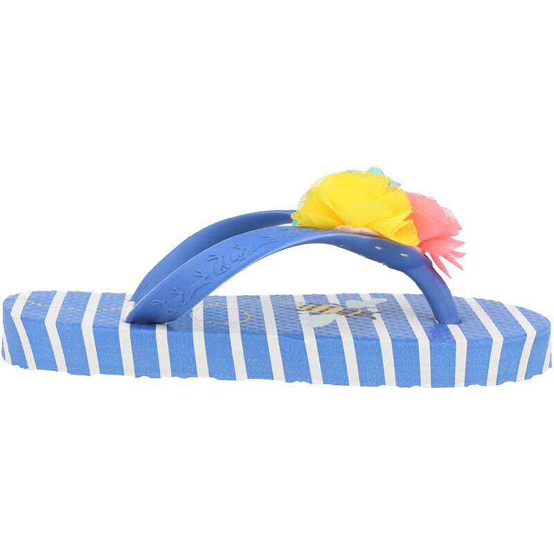 Joules Jnr Flip Flop Bee Blue Rubber