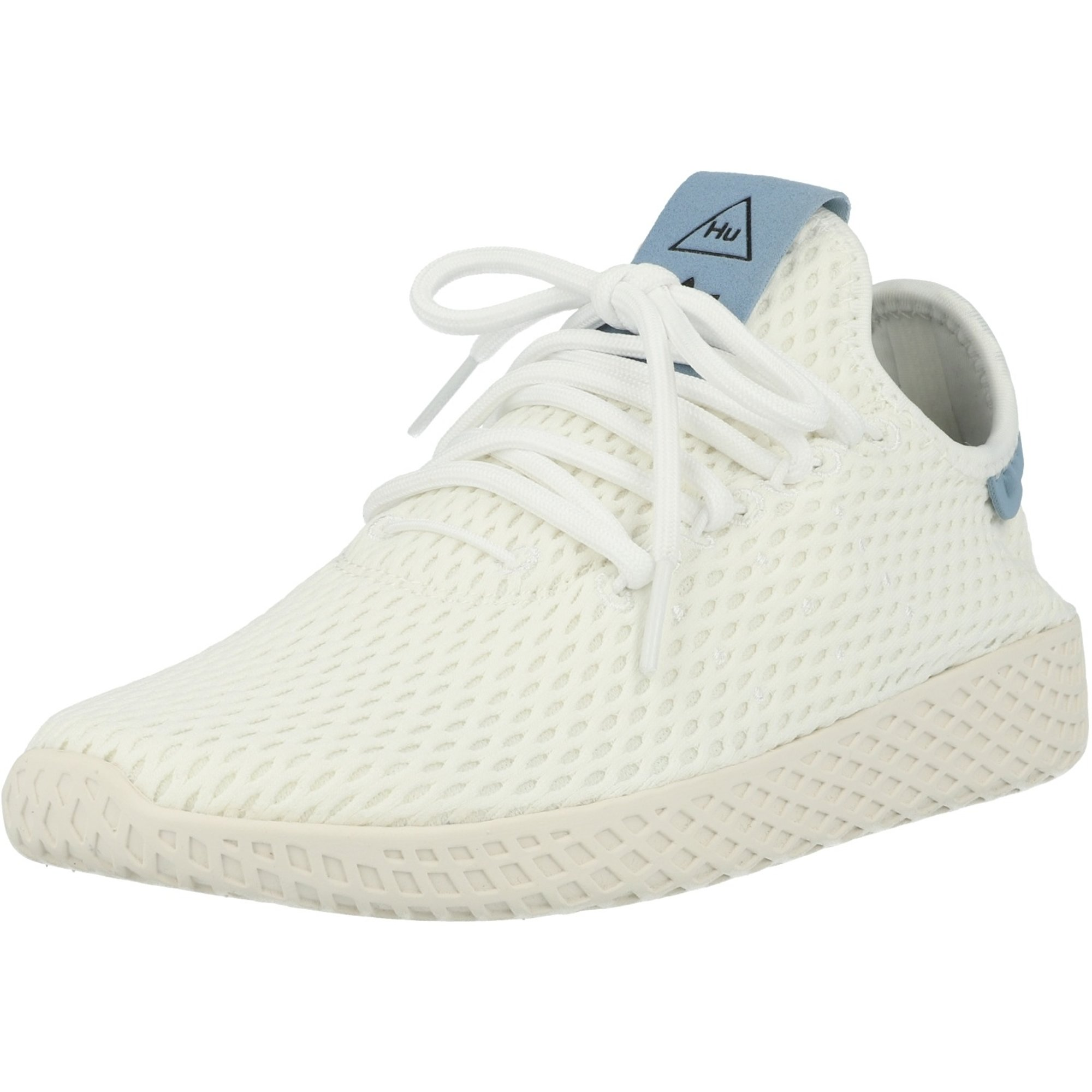 esponja zona Respetuoso  adidas Originals Pharrell Williams Tennis Hu White/Blue Textile - Trainers  Shoes - Awesome Shoes