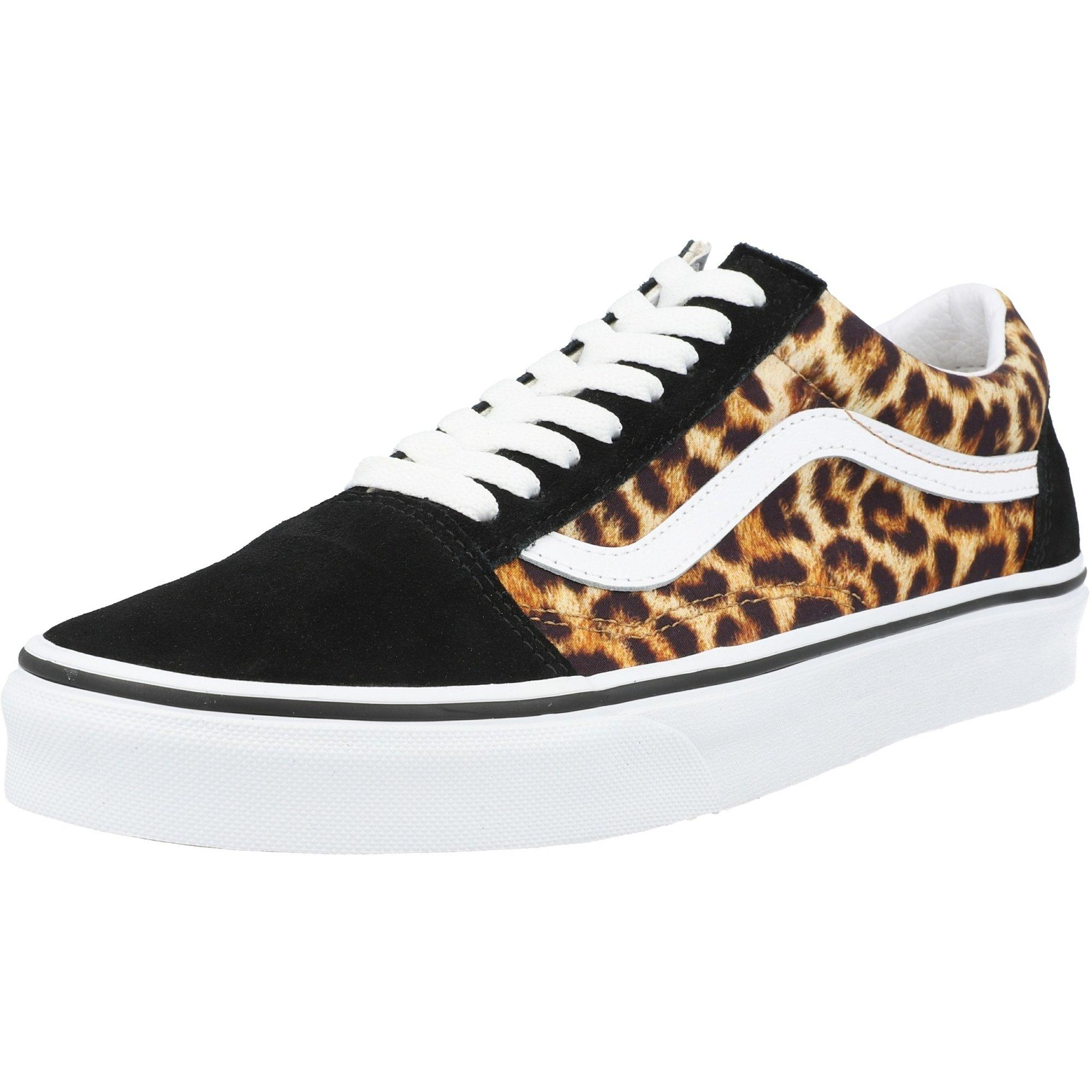 Vans UA Old Skool Black Leopard/True White Suede