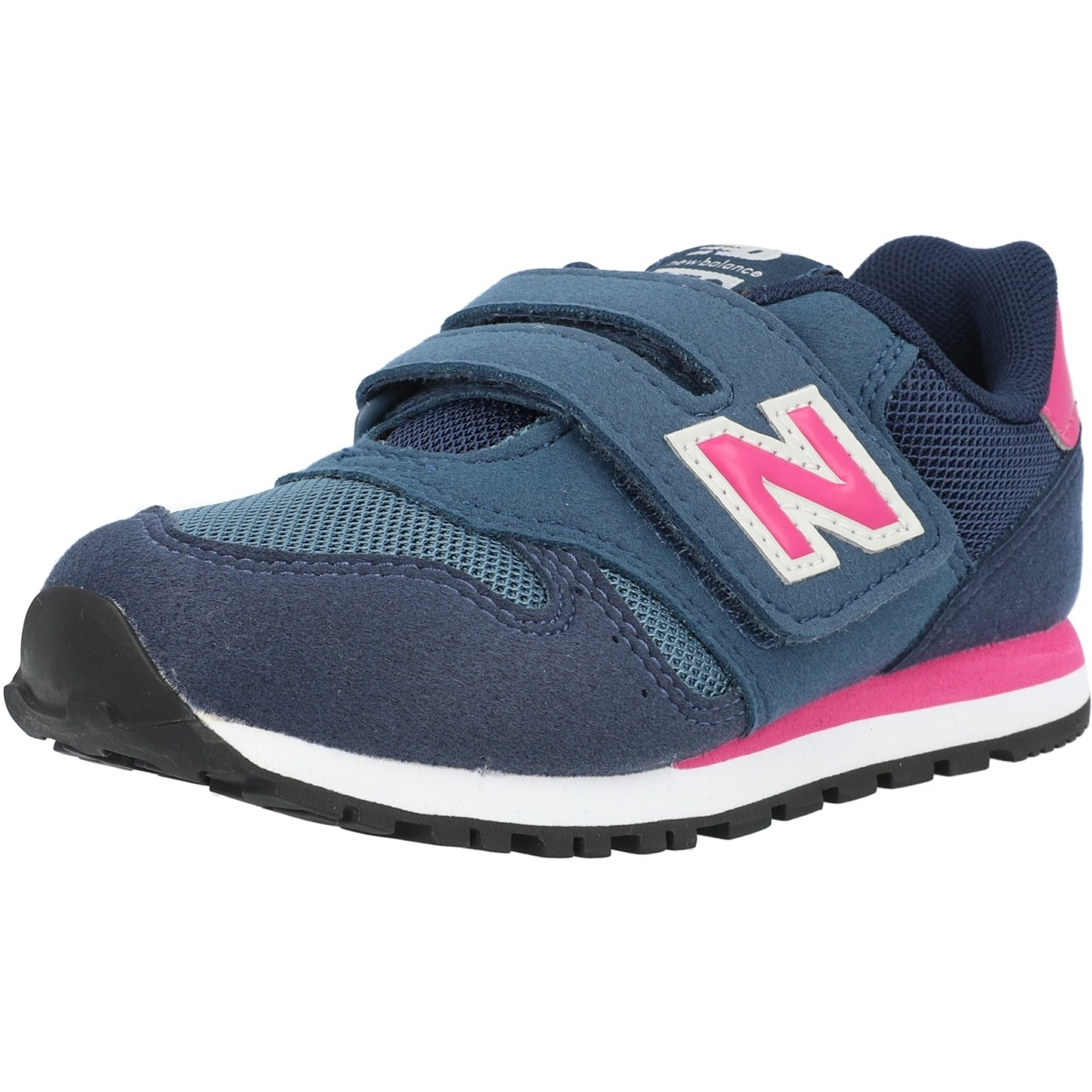 New Balance 373 Stone Blue/Exuberant Pink Suede Child