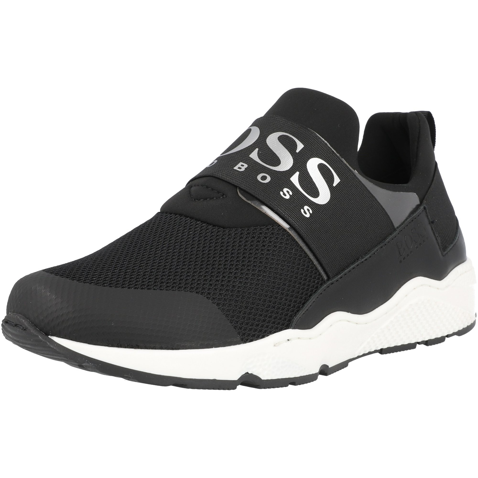BOSS Trainers Black Fabric Polyester