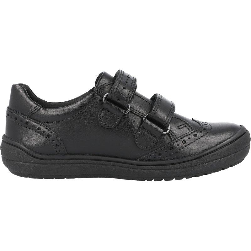 Geox J Hadriel G Black Smooth Leather