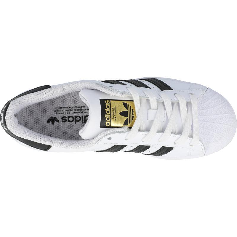 adidas Originals Superstar J White/Core Black Leather
