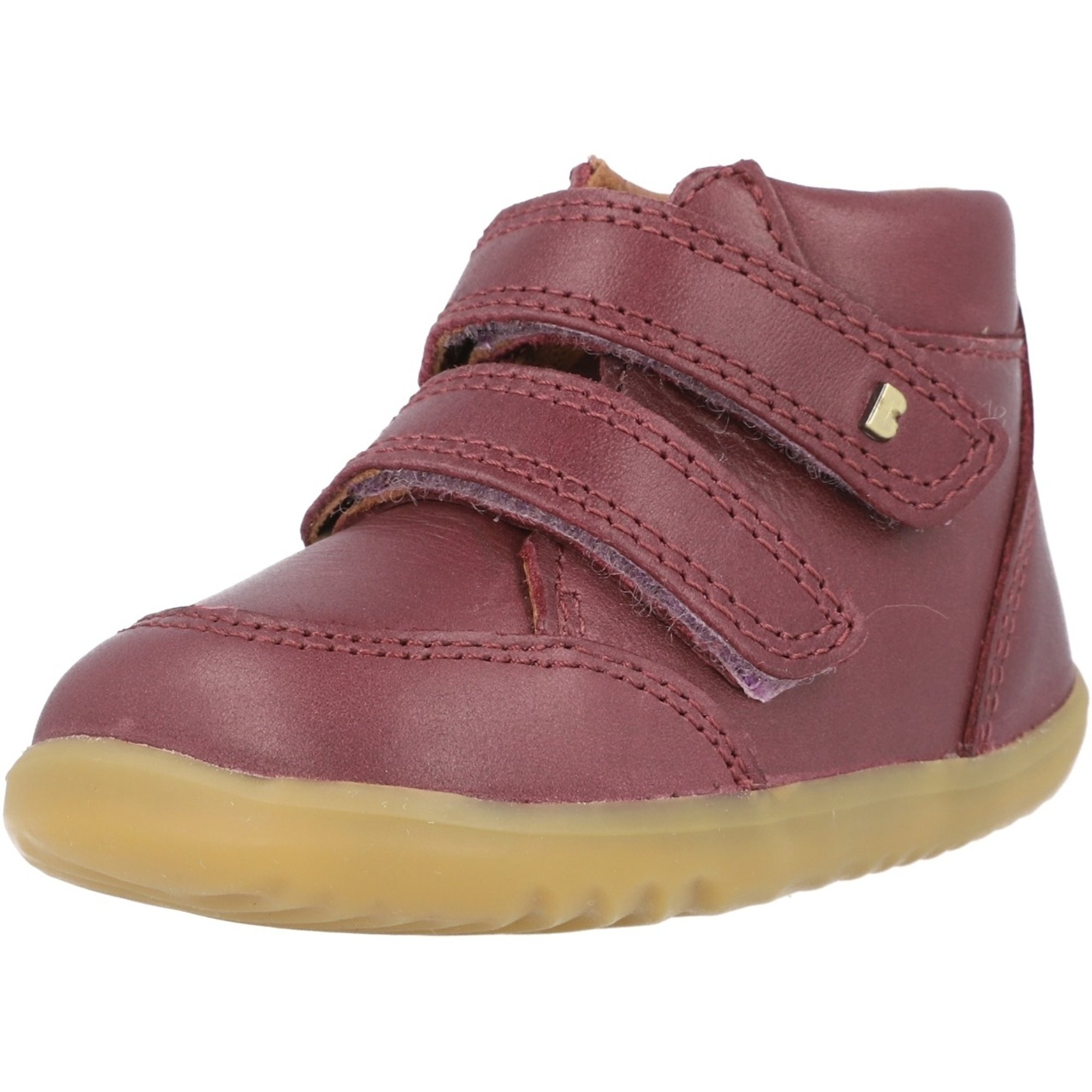 Bobux Step Up Timber Plum Quickdry Vintage-Look Leather