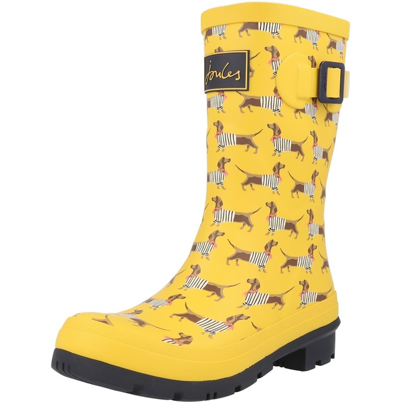 Joules Molly Welly Sausage Dog Yellow