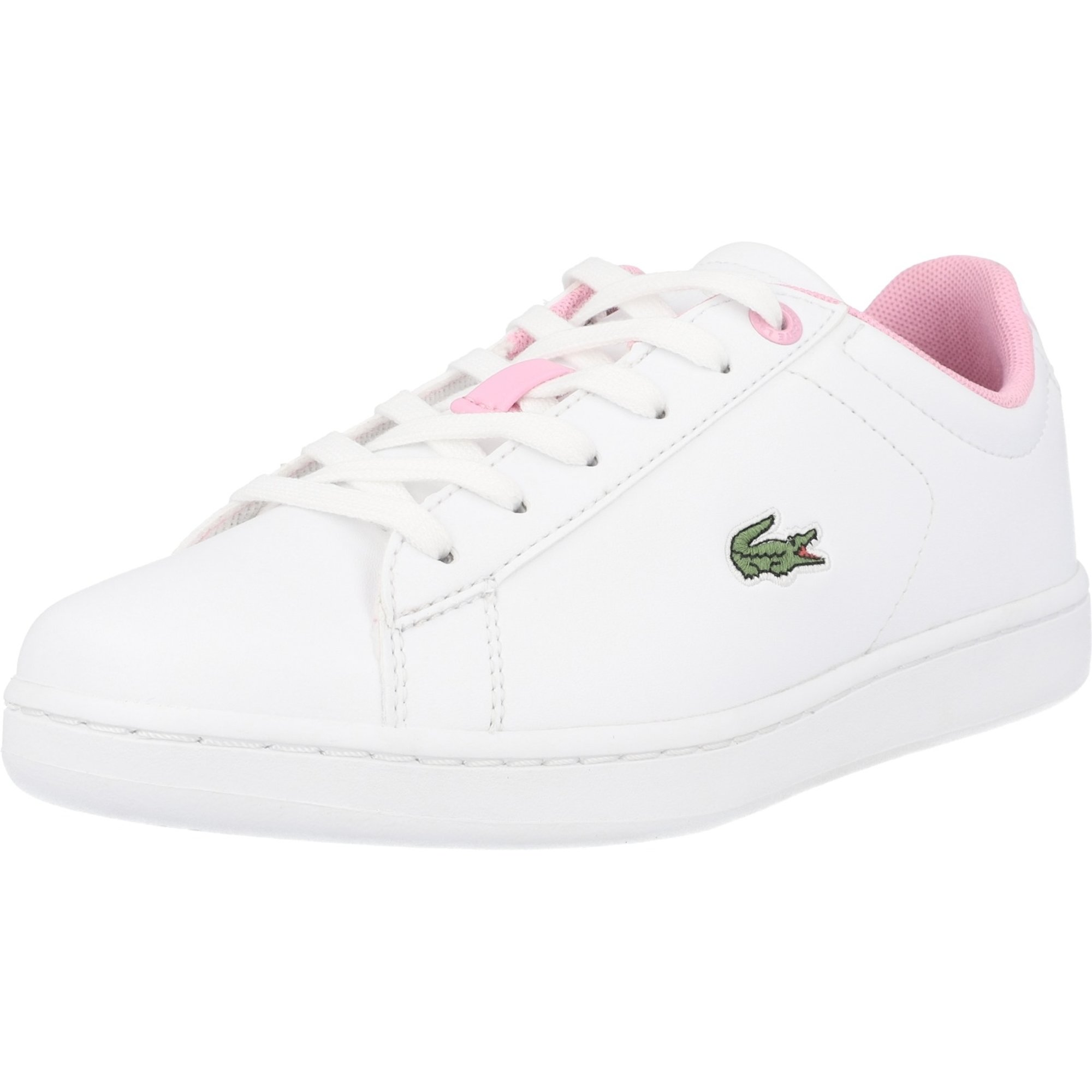Lacoste Carnaby Evo 0120 2 White/Light Pink Synthetic