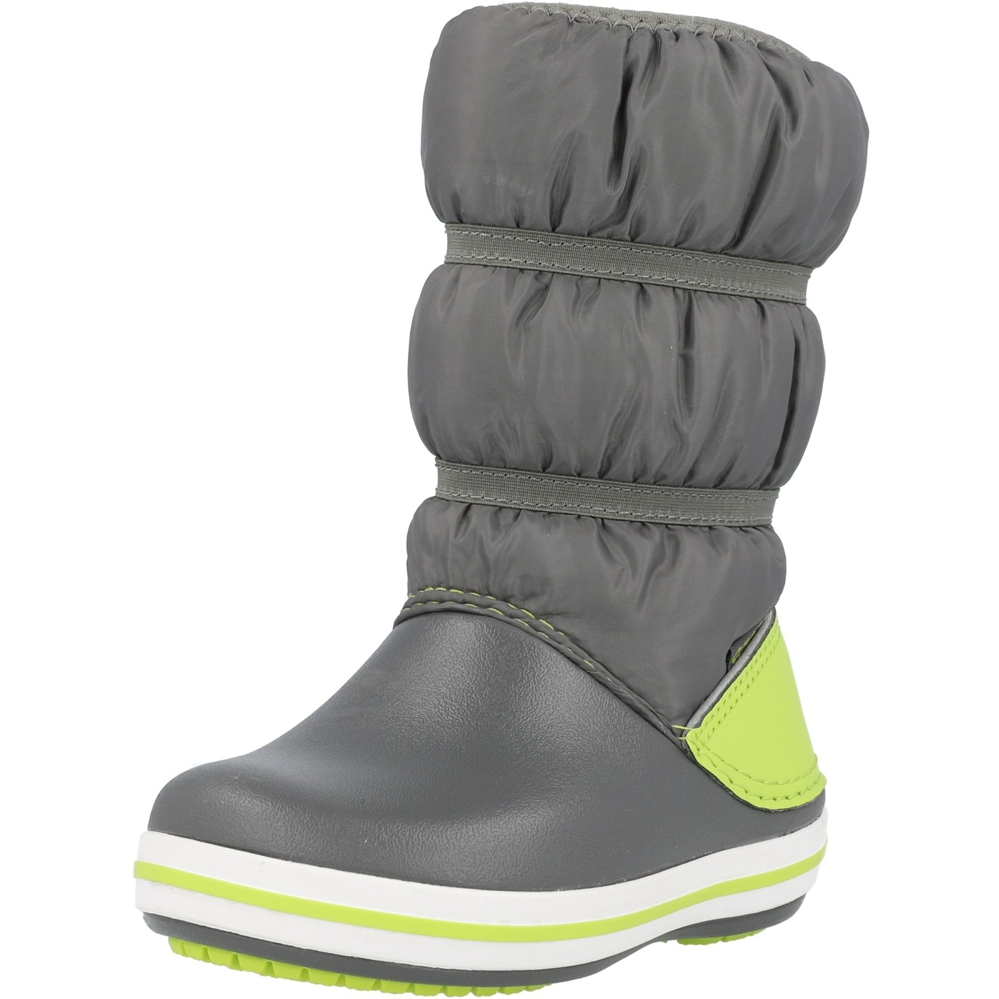 Crocs Kids Crocband Winter Boot Slate Grey/Lime Punch Croslite