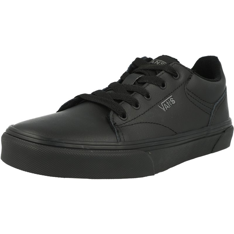junior black leather vans