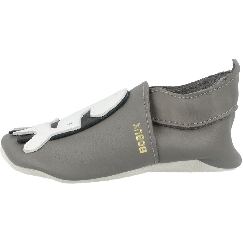Bobux Soft Sole Zebra Grey Leather