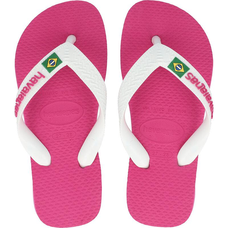 Havaianas Kids Brasil Logo Hollywood Rose Rubber