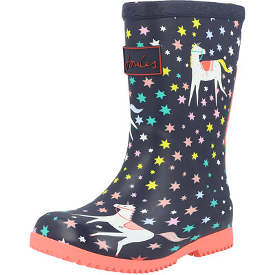 Jnr Roll Up Welly Unicorns Child childrens shoes