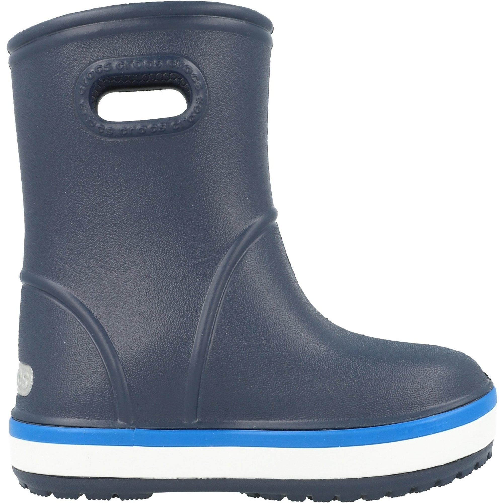 Crocs Kids Crocband Rain Boot Navy/Bright Cobalt Croslite