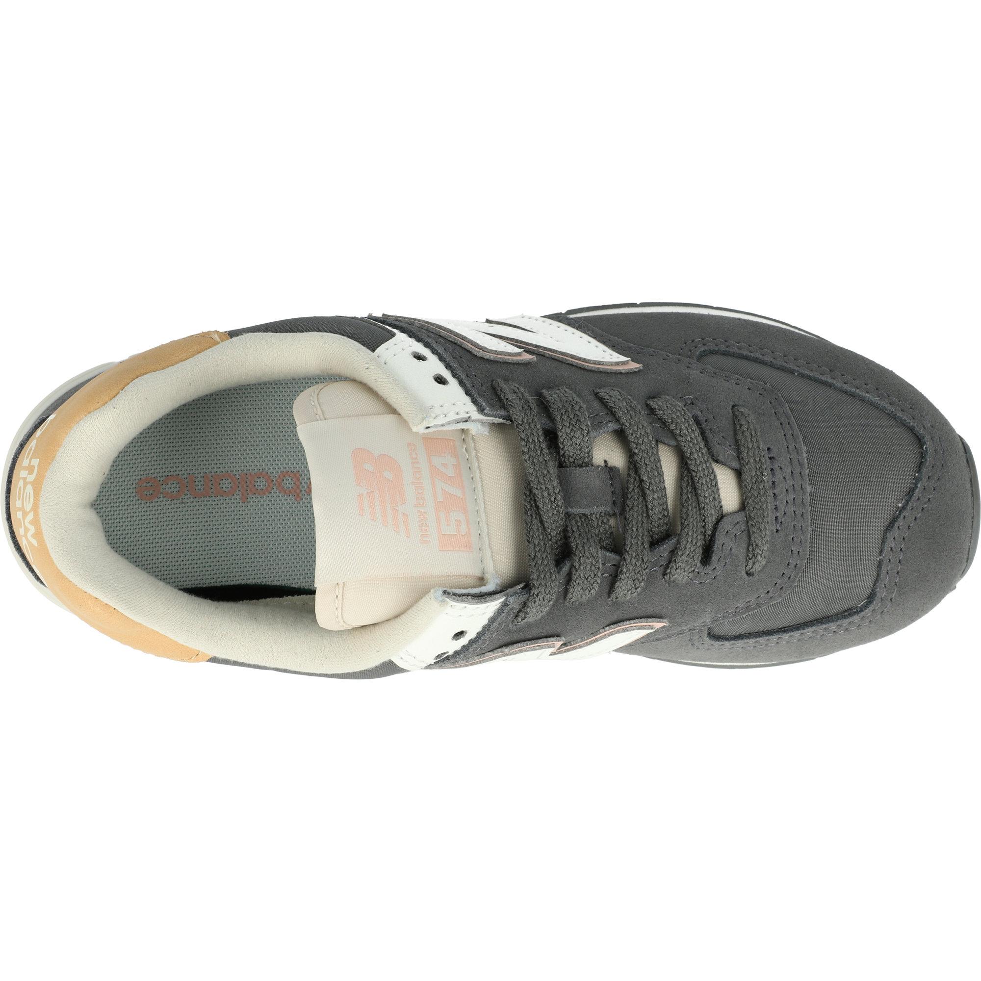 new balance 574 grigio pelle