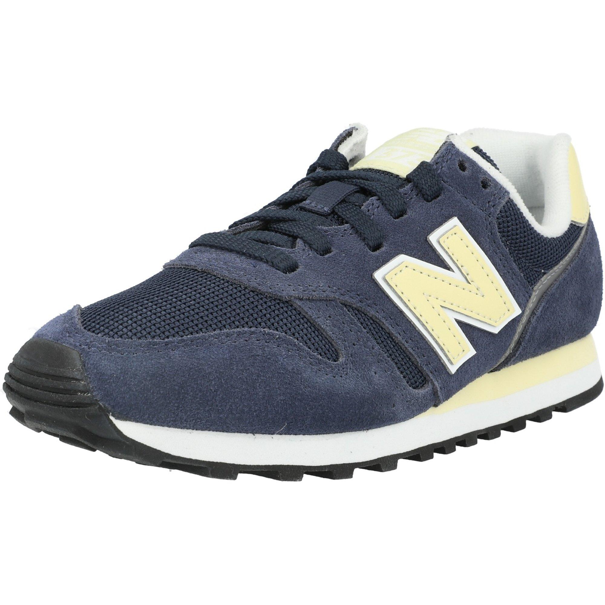 New Balance 373 Navy/Sun Glow Suede