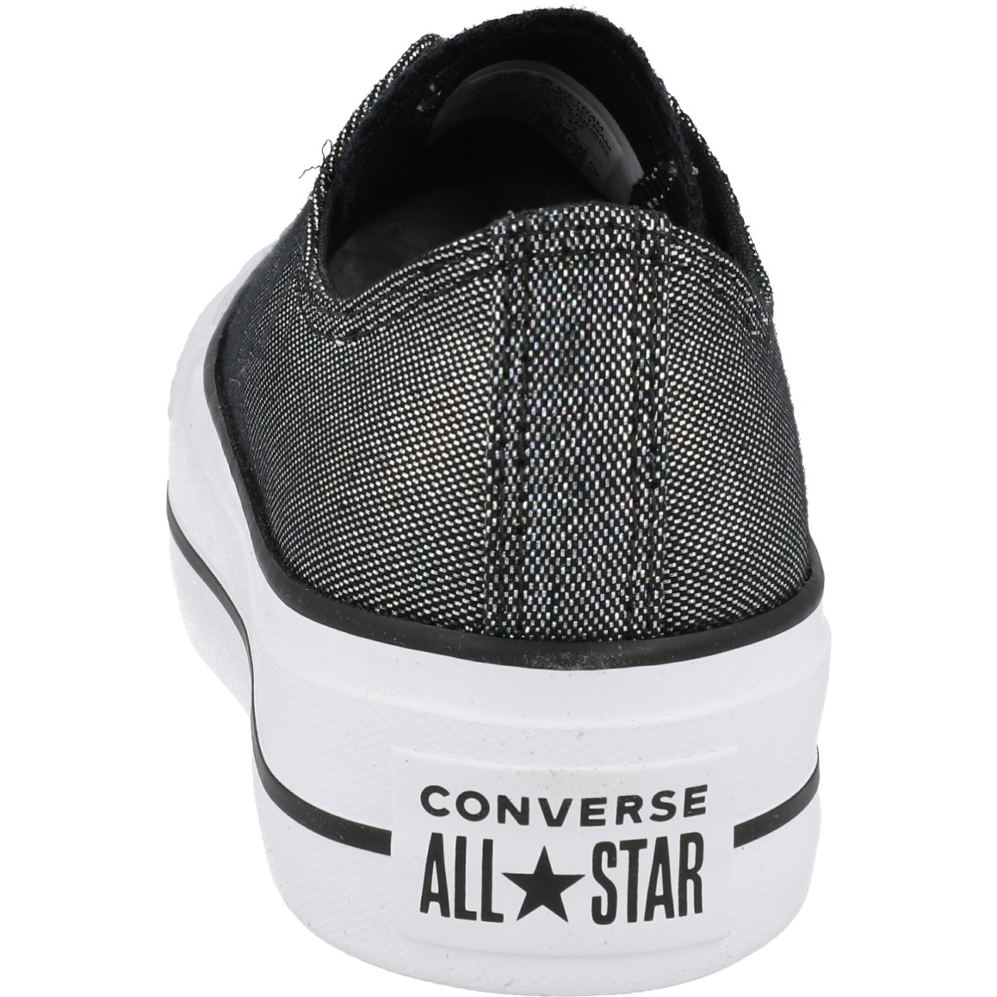 Converse Chuck Taylor All Star Lift Industrial Glam Ox Silver/Black Polyester
