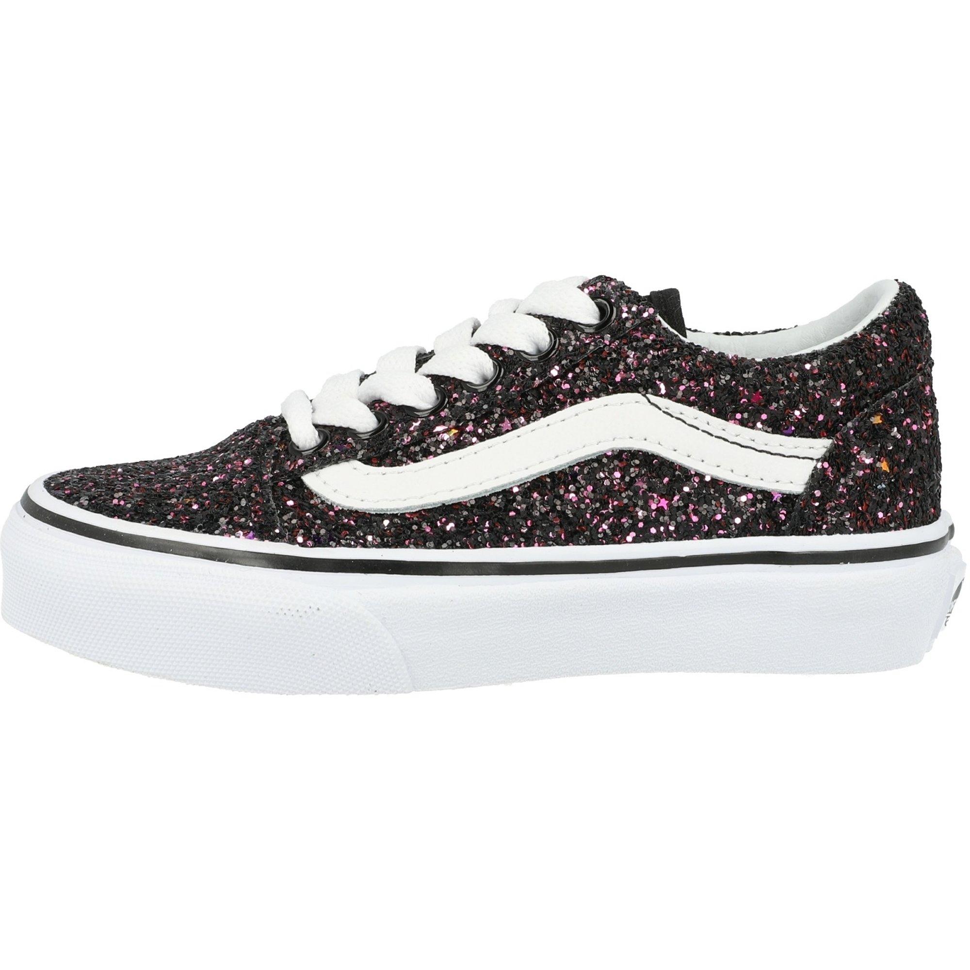 Vans UY Old Skool Black Glitter Stars