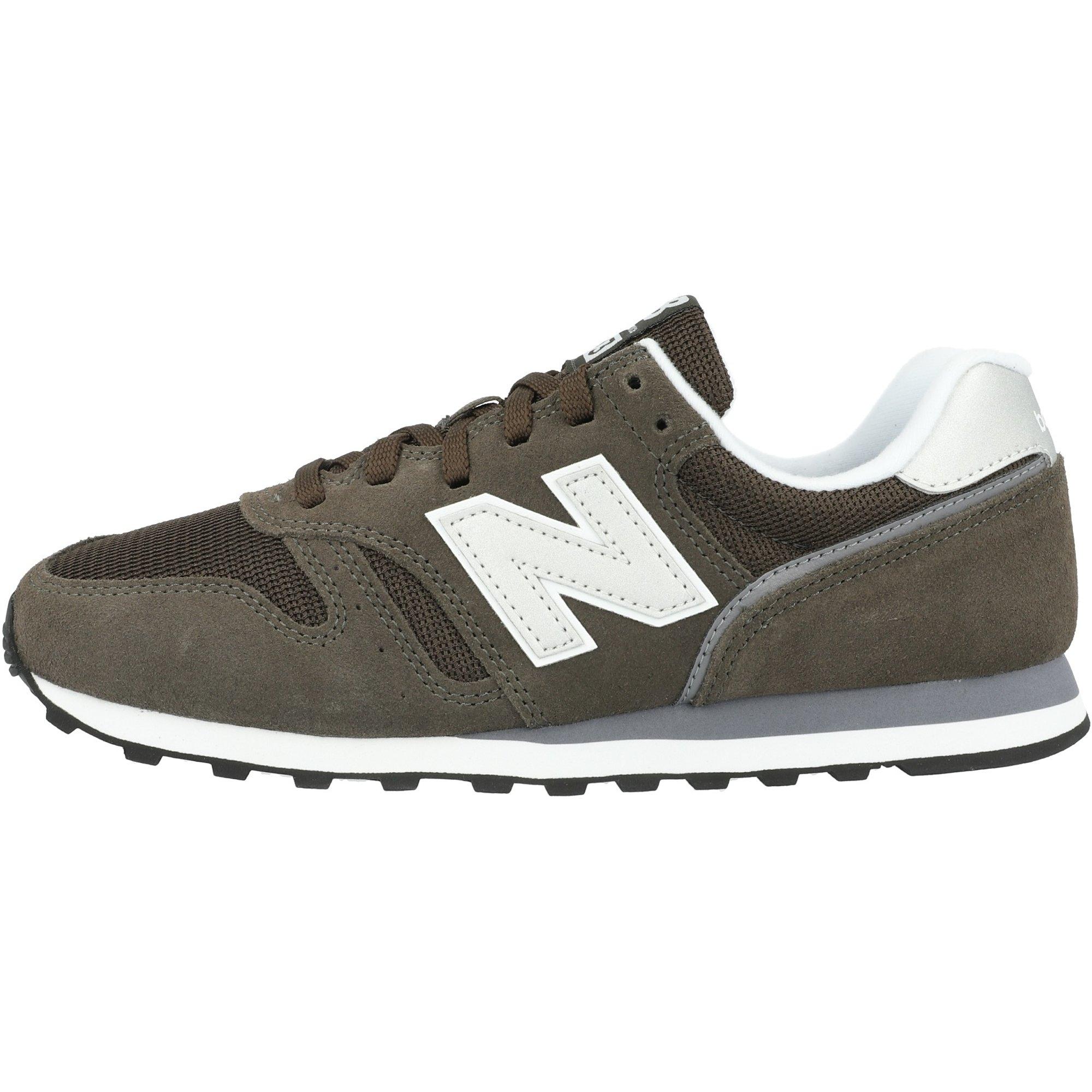 New Balance 373 Black Olive/White Suede