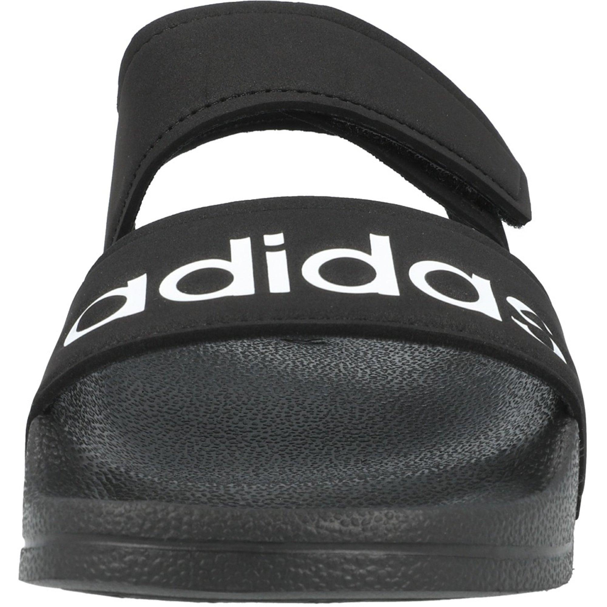 adidas adilette Sandal K Core Black/White Synthetic