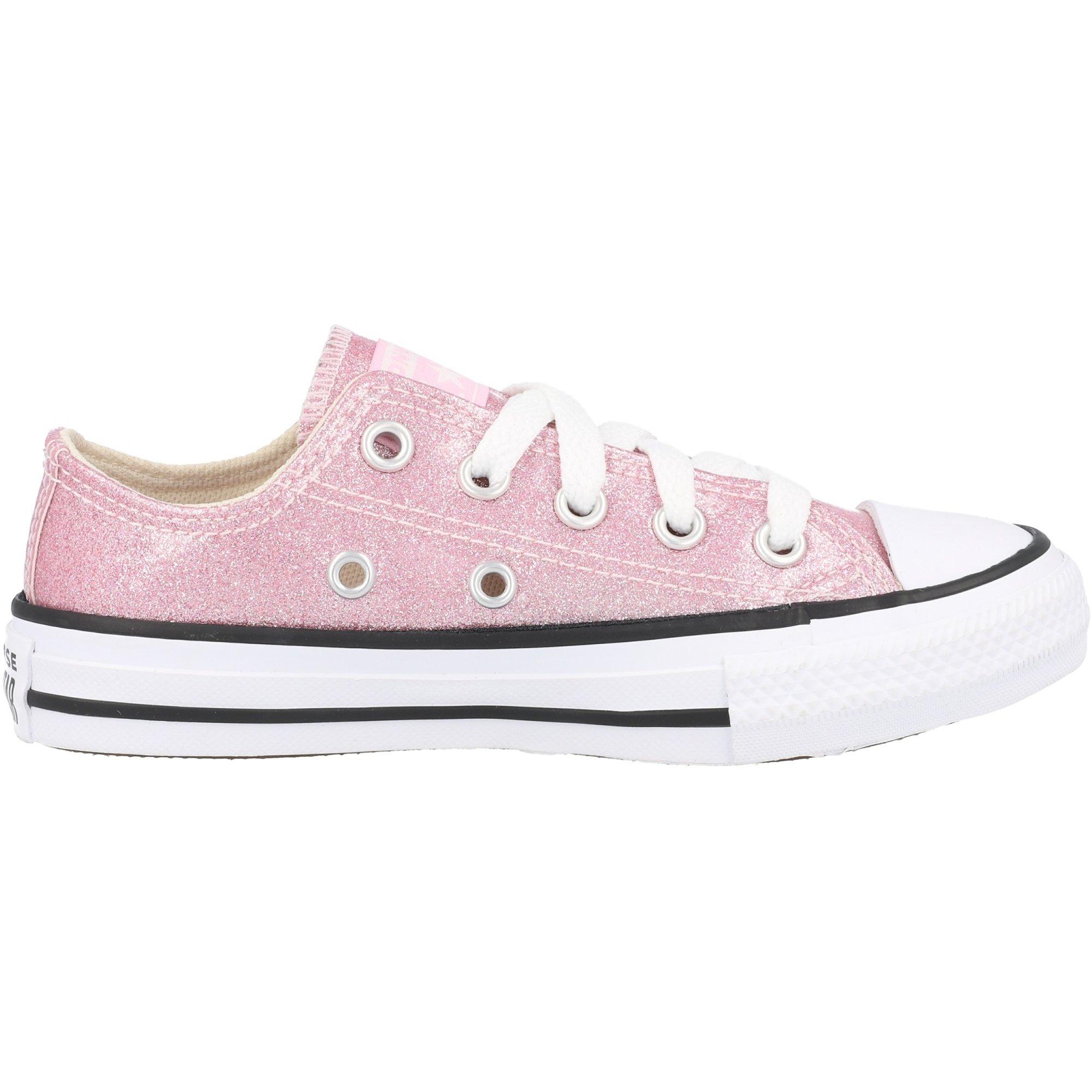 Converse Chuck Taylor All Star Ox Pink Glaze/Black Coated Glitter