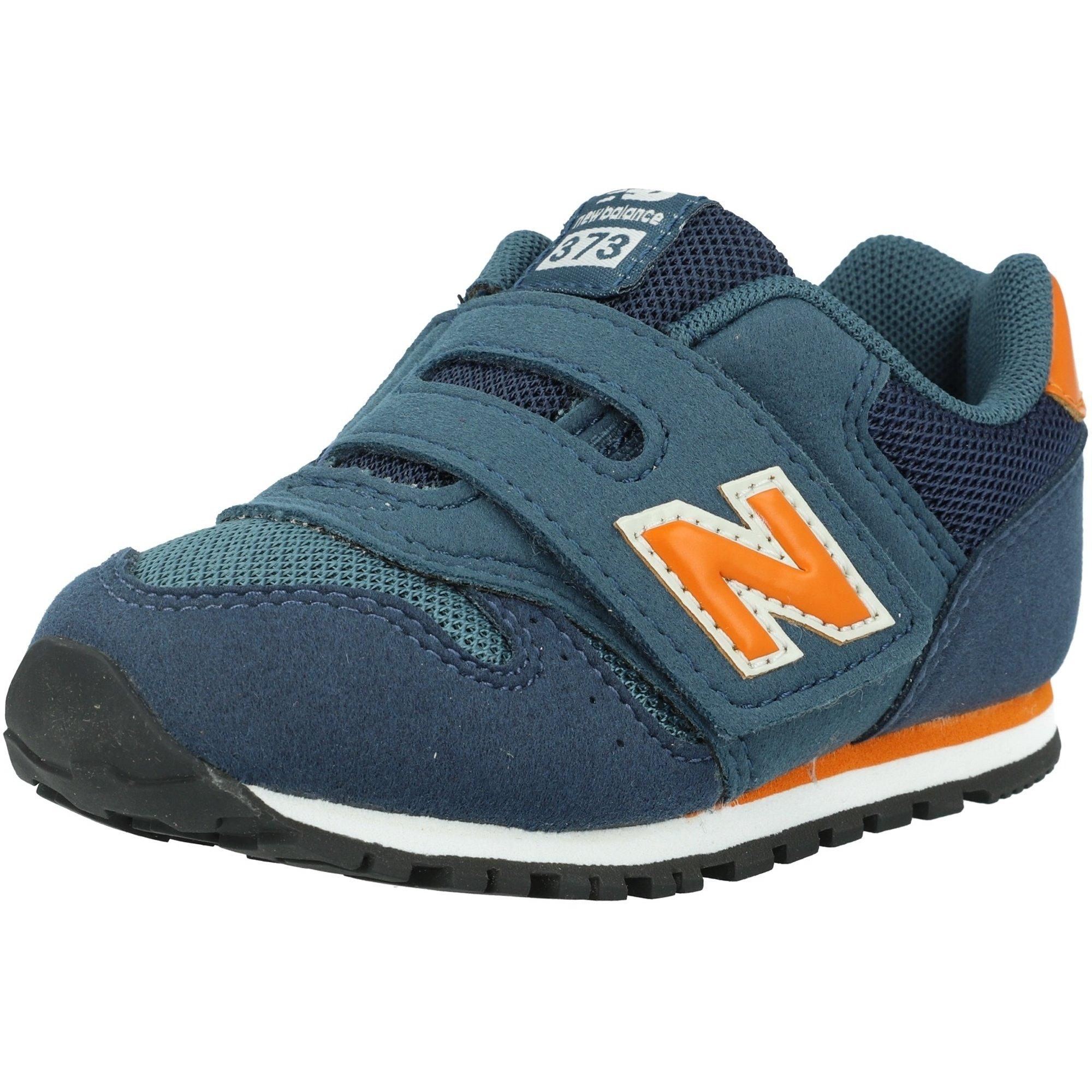 New Balance 373 Stone Blue/Vintage Orange Suede Infant