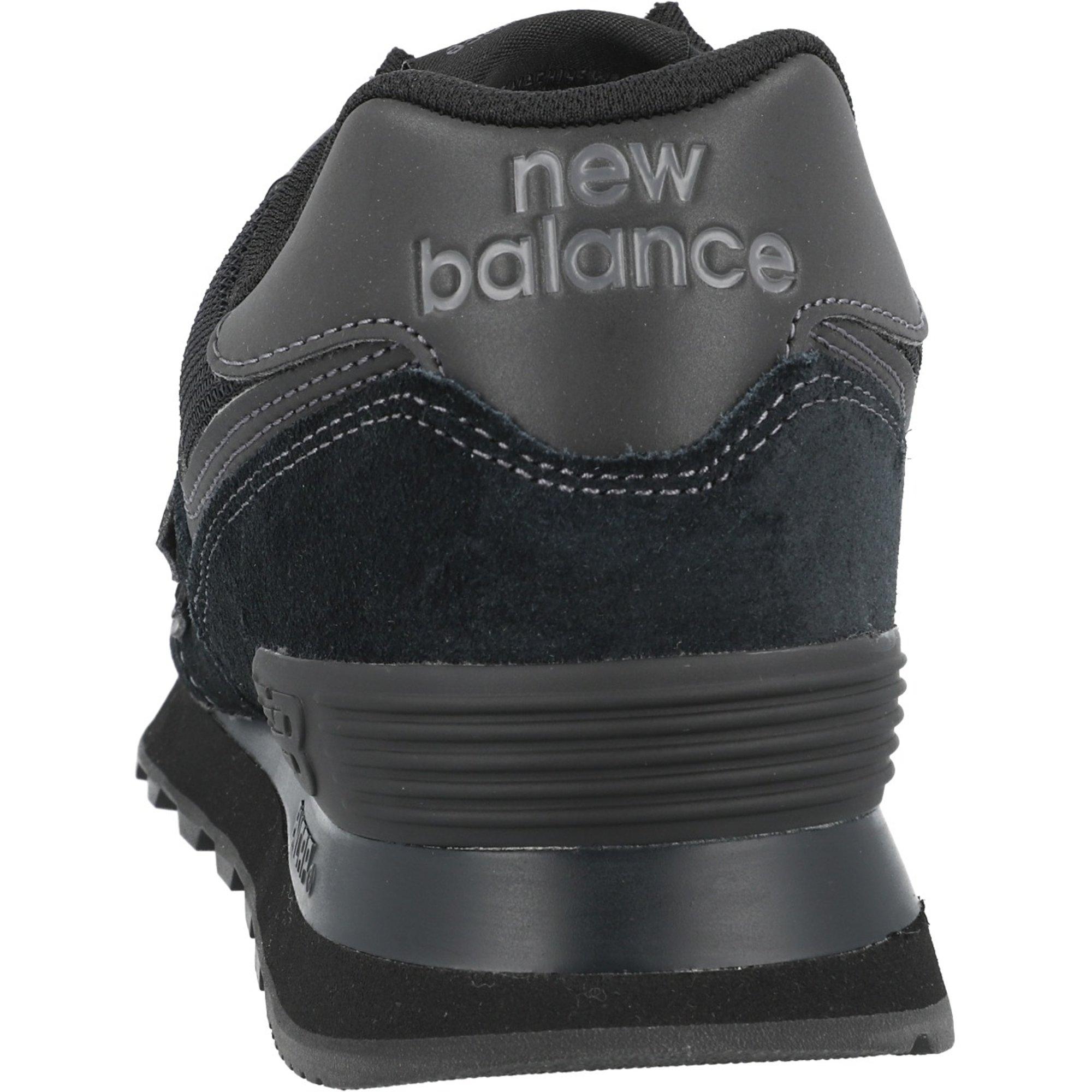 New Balance 574 Black Suede