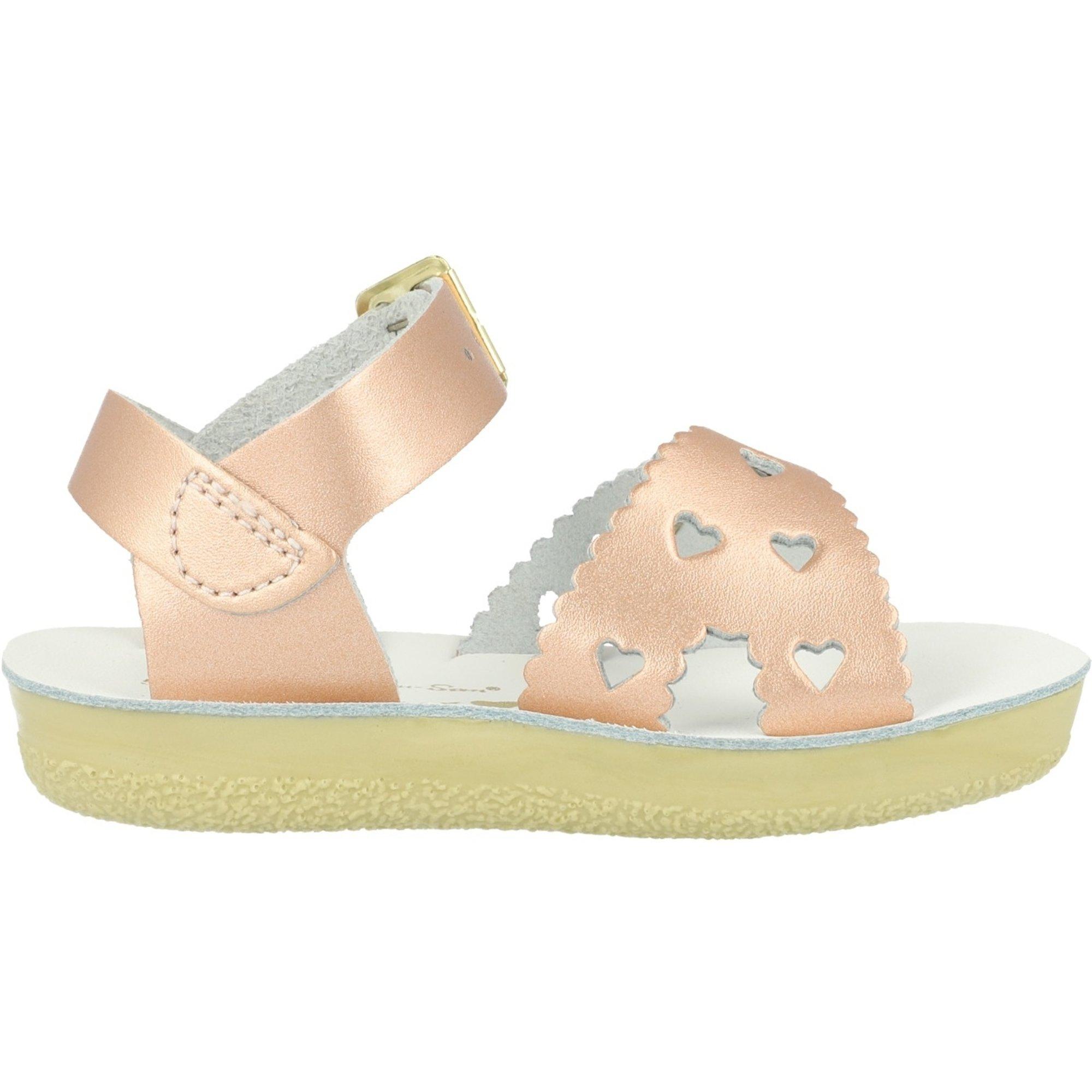 Salt Water Sandals Sun-San Sweetheart Rose Gold Leather