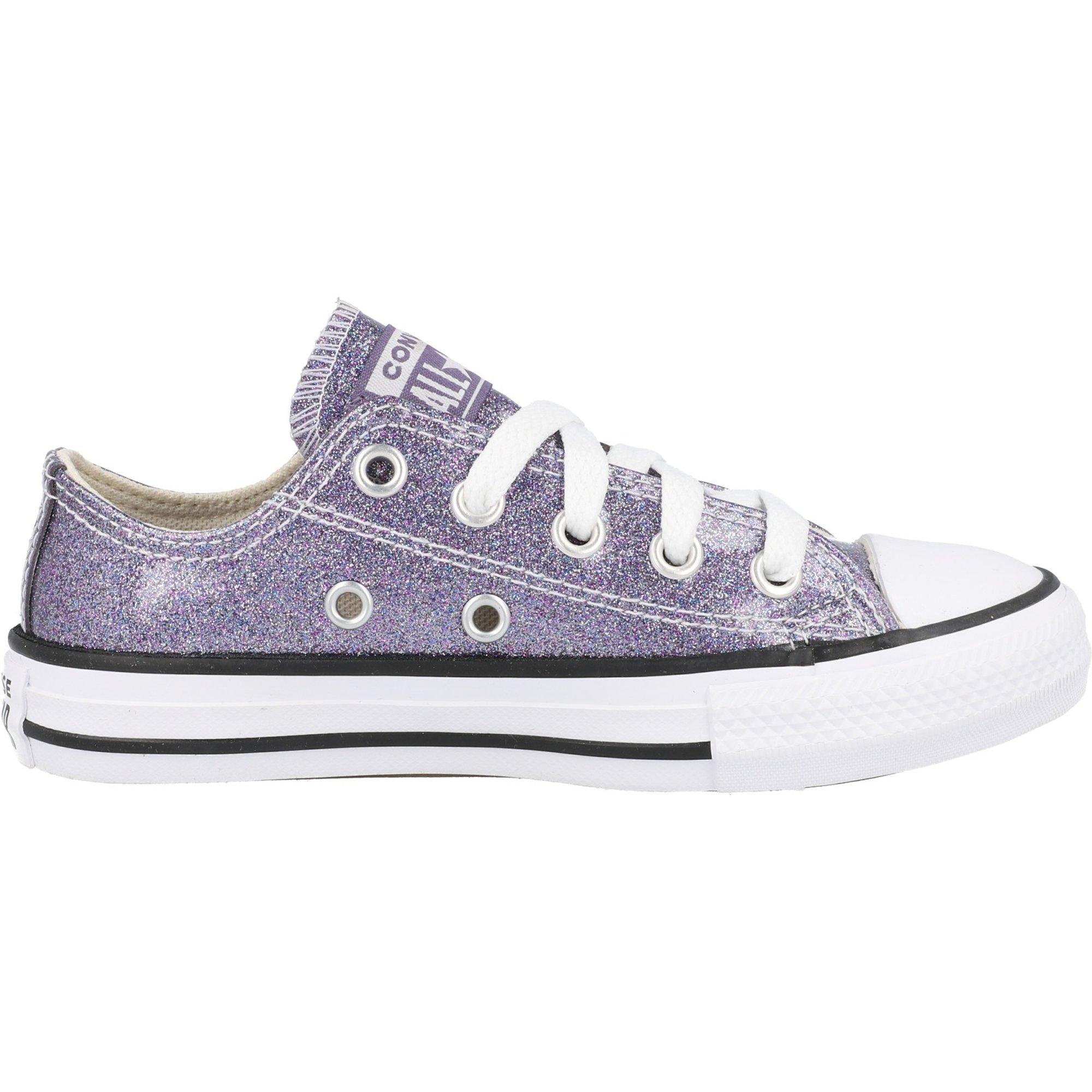 Converse Chuck Taylor All Star Ox Moody Purple/Black Coated Glitter